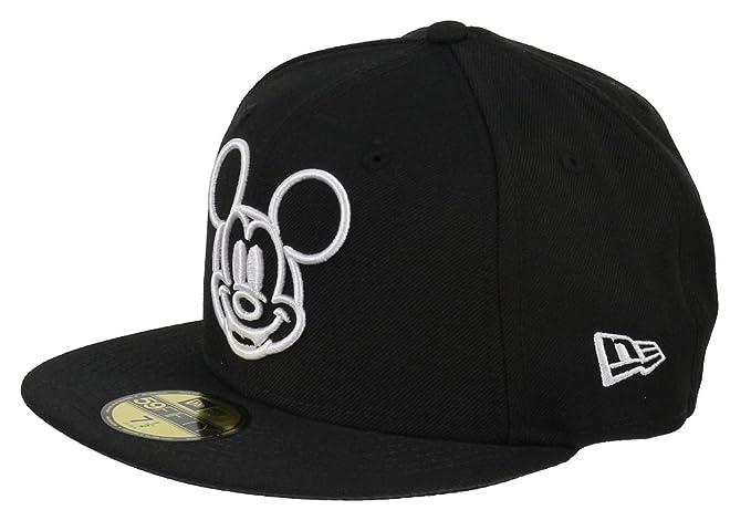 New Era Disney 59fifty Basecap Mickey Mouse White Face Black - 6 7 8- 41236dac9e0e
