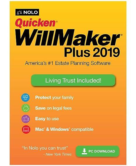 Amazon. Com: quicken willmaker plus 2019 & living trust [pc.