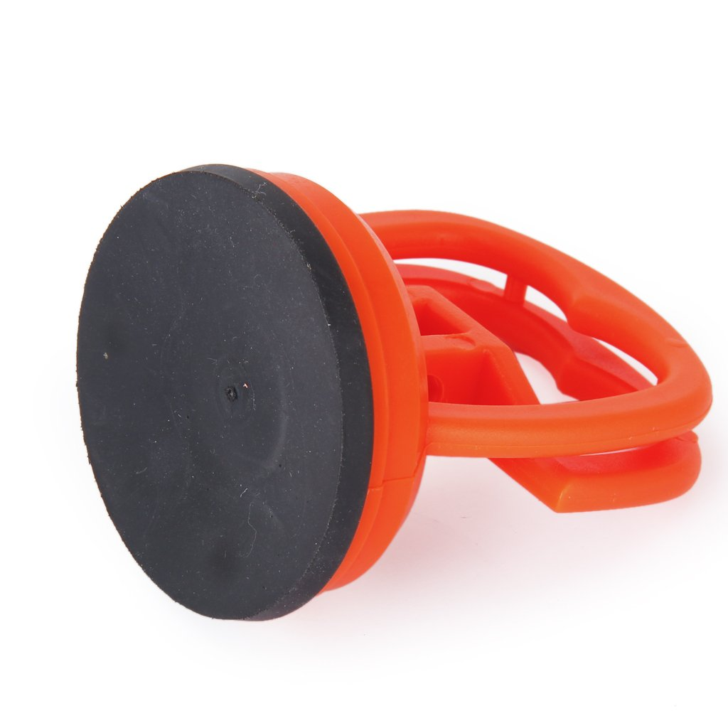 Glass Suction Cup//Pad Dent Puller//Lifter with Carrying Handle 15KG---Orange Red