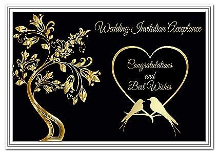 Wedding Acceptance Card Response To Wedding Invitation