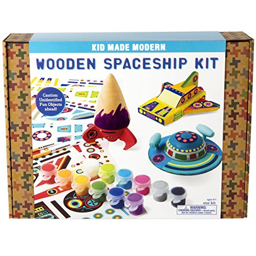 Kid Made Modern Wooden Spaceship Kit - Kids Arts & Crafts Toys ()