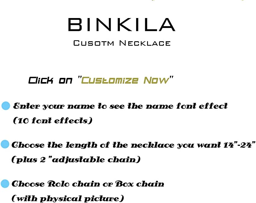 BINKILA Eternity Infinite Name Necklace Personalized Custom S925 Sterling Silver Hear丨Dog Claw丨18K Gold Plated Jewelry Gift for Woman Mom