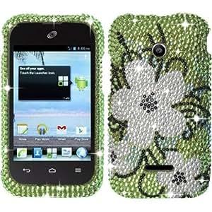 For Huawei Inspira H867G/Prism 2 II U8686/Glory H868c Full Diamond Case Cover - Hawaiian Flowers Diamond