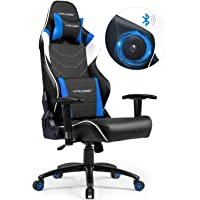 GTRACING Music Gaming Chair with Bluetooth Speakers【Patented】 Audio Racing Chair Heavy Duty Ergonomic Multi-Function E-Sports Chair for Pro Gamer GT899 Blue
