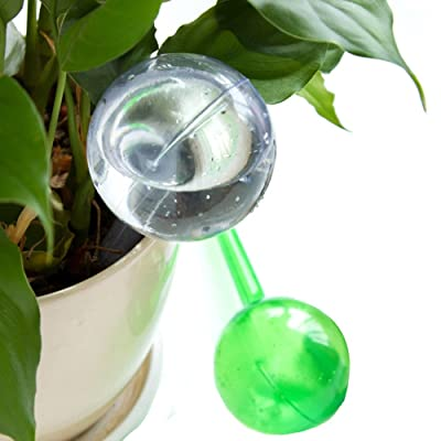 maggiesee 4pcs Plant Self-Watering Bulb Globes Flowers Automatic Watering Device Garden Waterer Water Cans Watering System Drip Irrigation: Industrial & Scientific