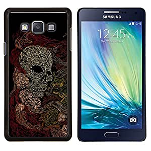 TECHCASE---Cubierta de la caja de protección para la piel dura ** Samsung Galaxy A7 ( A7000 ) ** --Cráneo Arte Pintura Dibujo Esqueleto