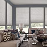 Premium White Cellular Light Filtering Shade Blind 34.5'' (34 1/2) W x 72'' L (ACTUAL SIZE 34''x72'') - Custom Cut Fast Shipping