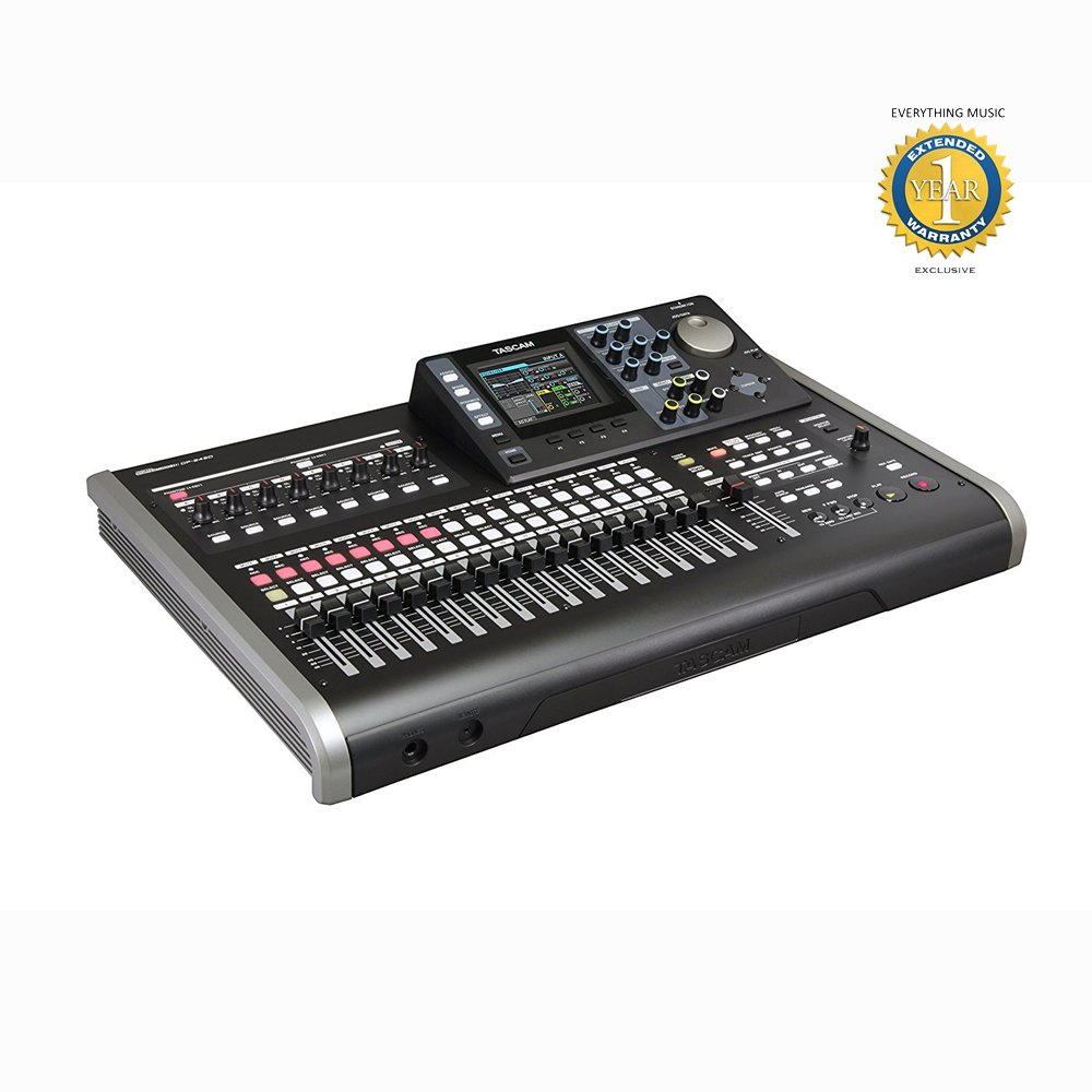 Tascam DP-24SD 24-Track Digital Portastudio Recorder with Microfiber and Free EverythingMusic 1 Year Extended Warranty