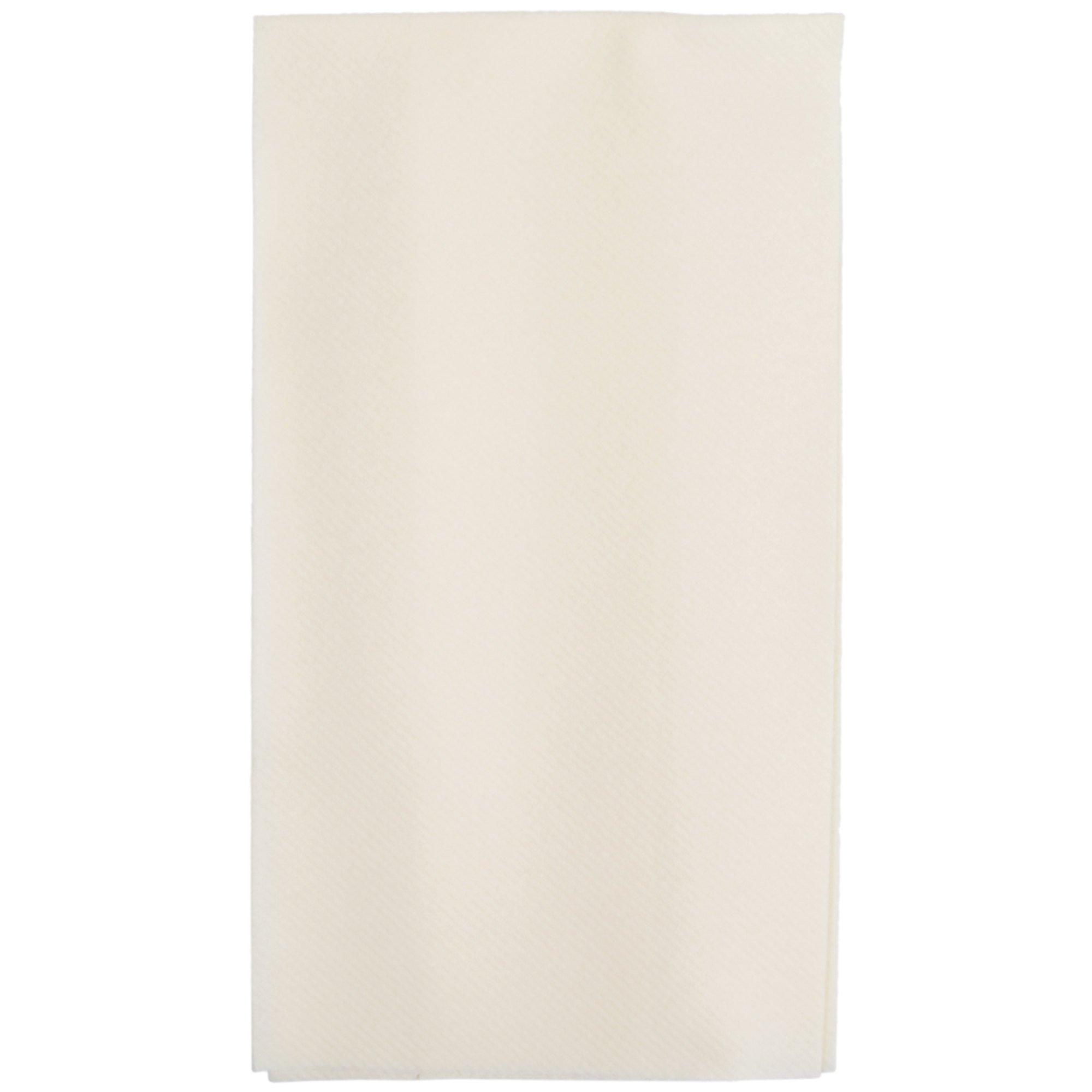 Hoffmaster 856803 Linen-Like 12'' x 17'' Ecru / Ivory 1/6 Fold Guest Towel - 500/Case