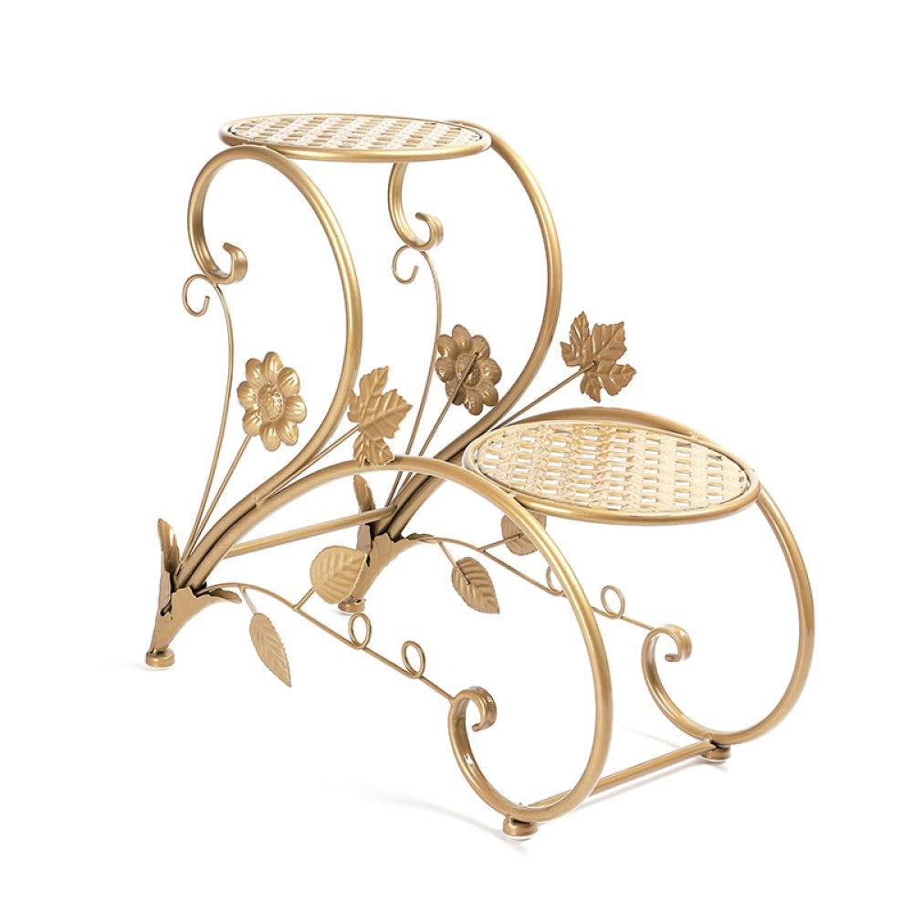 CWLLWC Rack di Fiore, pianta Balcone Salone Fiore di Fiore Cestino Fiore Doppio Cestino Ferro Piano, Cestino
