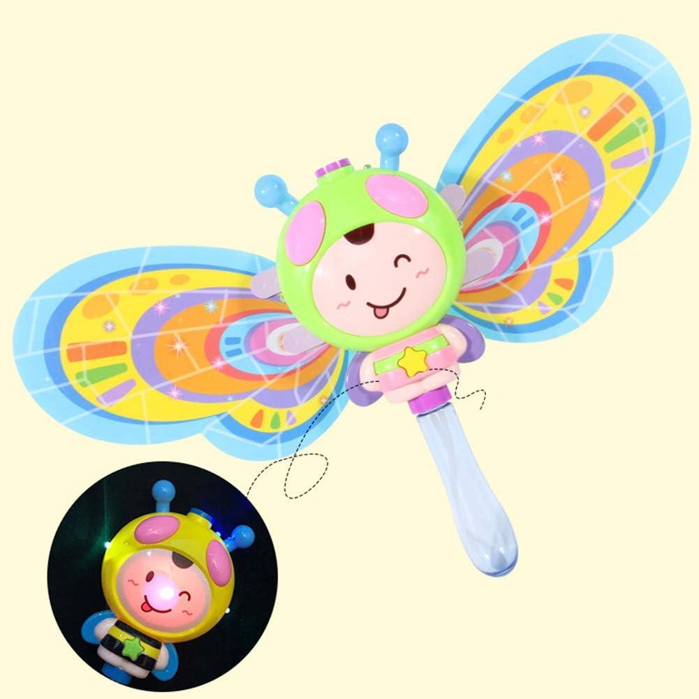 XuBa Little Bee máquina eléctrica de Burbujas con música automática Burbuja con Burbuja líquida de Burbujas, Regalos para niños