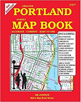 Metro Map Portland Oregon.Greater Portland Street Map Book Oregon Gm Johnson 9781770684539