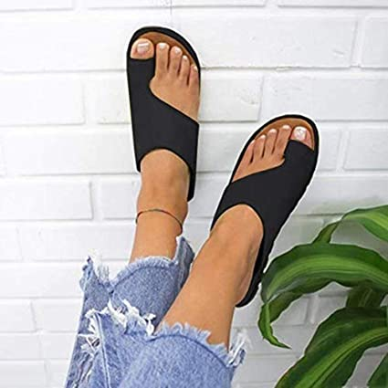 Amazon.com: iBaste Womens Summer Sandals - Big Toe Correction Platform Sandals Artificial Leather Beach Sandals: Sports & Outdoors