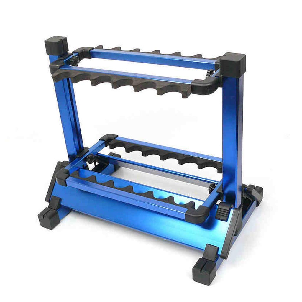 12フィッシュロッドディスプレイスタンド アルミ魚ラフトラックコレクション家庭魚トラススタンドディスプレイスタンド (Color : Blue, Size : 45 * 29 * 39cm) 45*29*39cm Blue B07HDDF14Z
