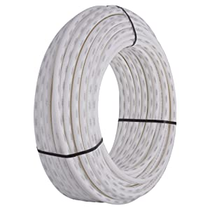 SharkBite U870W300 PEX Pipe 3/4 Inch, White, Flexible Water Pipe Tubing, Potable Water, Push-to-Connect Plumbing Fittings, 300 Foot Coil