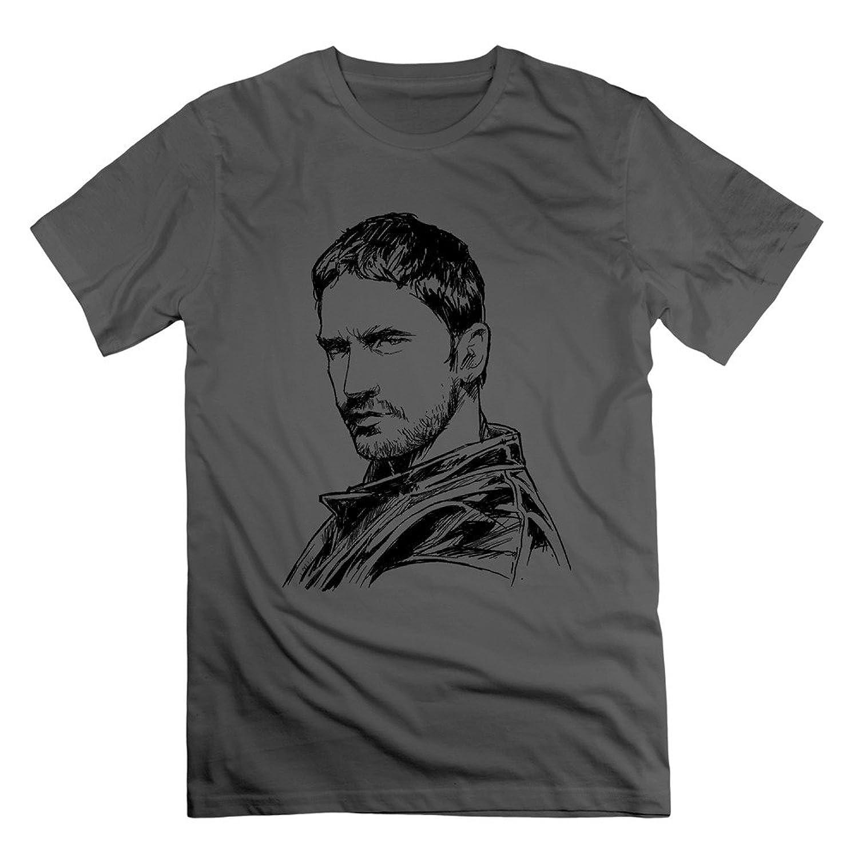 ZHENGAIMEI Mens Gerard Butler Unique T Shirt
