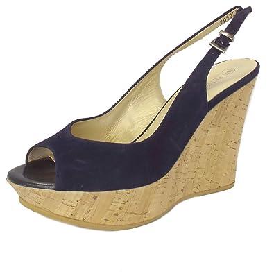 8e5864fac9cd Peter Kaiser Riga Ladies Wedge Sandals in Dark Navy Suede NOTTE SUEDE 3
