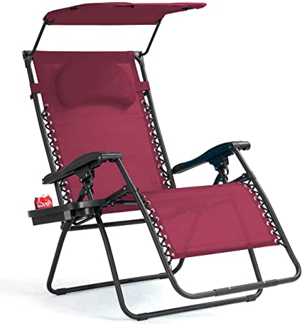 Reclining Zero Gravity Chairs Black Heavy Duty Folding Portable Design Relaxing Chair Sun Lounger Garden Furniture Outdoor Beach Pool Camping Set Of 2 Chairs With Cup holders and Table