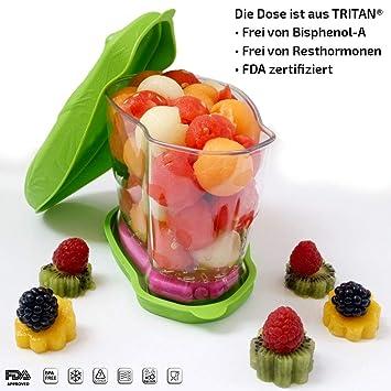 BPA- und Resthormonenenfrei Frischhaltedose Aufbewahrungsdose K/ühldose Lunchbox mit K/ühlakku und K/ühltasche 6 Std K/ühlleistung 0,9 L