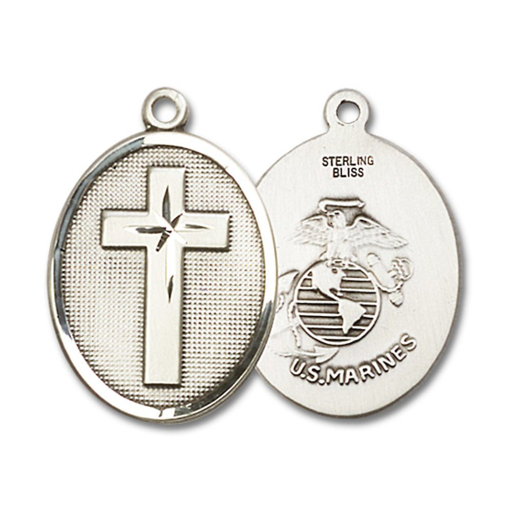 Sterling Silver Cross Marines Pendant
