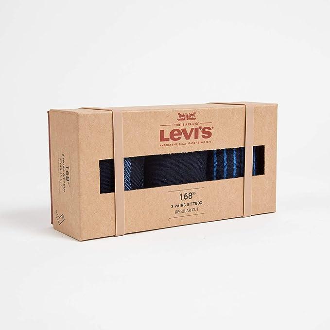 Levis Levis 168SF Regular Cut GIFTBOX 3P, Calcetines para Hombre, Azul Blue 466, 39/42 (Tallas De Fabricante: 039)(Pack de 3): Amazon.es: Ropa y accesorios