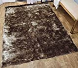 Shag Shaggy Furry Fluffy Fuzzy Plush Solid Soft Pile Area Rug Carpet Modern Contemporary Living Room Bedroom 5×7 Champagne Dark Beige Tan Neutral Two Tone Color Sale Cheap Discount ( Aroma Champagne ) Review