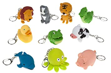 Noisy Animal Keychains- Push the Button to Make a Sound and Light Up their  Eyes 3c1e9dd4e