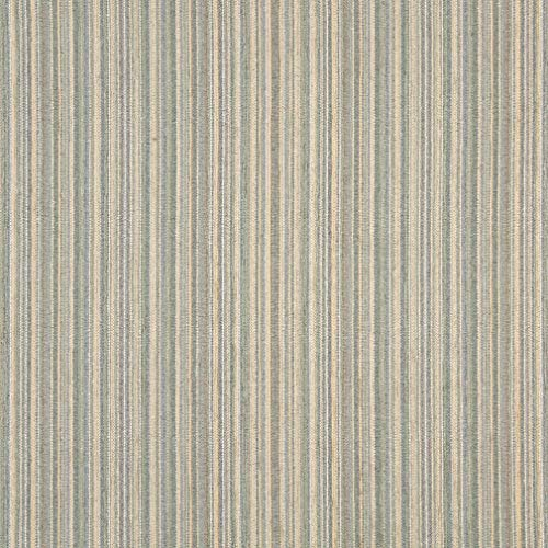 Sage Green Stripe Beige and Light Blue Small Scale Chenille Upholstery Fabric by the yard