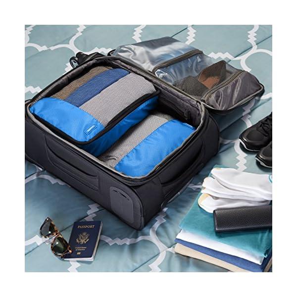 61M7mFsuTDL Amazon Basics Kleine Kleidertaschen, 4 Stück, Blau
