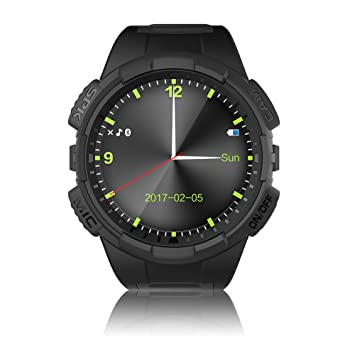 Markrom V11S Round Smart Watch with SIM Card Slot, GPS Motion ...