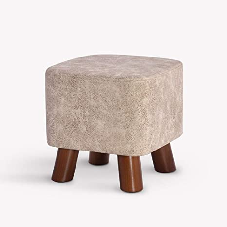 Home Shoe Bench Fashion Small Bench Fabric Sofa Stool Adult Footstool Low Stool Solid Wood Stool Upholstered Footstool,A
