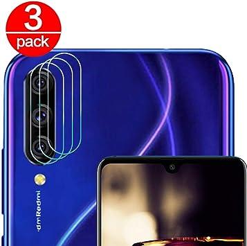 3 Pack] Cristal Templado para Lente Cámara de Xiaomi Mi 9 Lite/ A3 ...