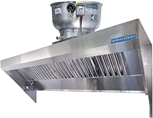 Food Truck Concession Trailer Hood System with Exhaust Fan (4' Hood System with Exhaust Fan)