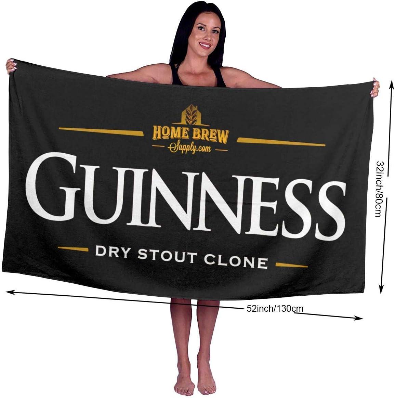 GSDGSDG Guinness Beer Logo Soft Towels Washcloth Large Serviette de Bains Towel Blanket for Men Kids 50 inch X 31.5 inch Super Absorbent Women