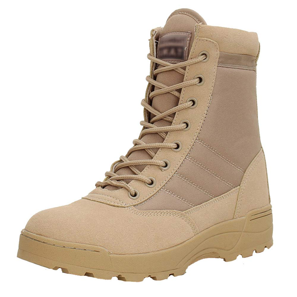 MIKA HOM Mens Lightweight Combat Boots Microfiber//Suede Leather Military Tactical Boots