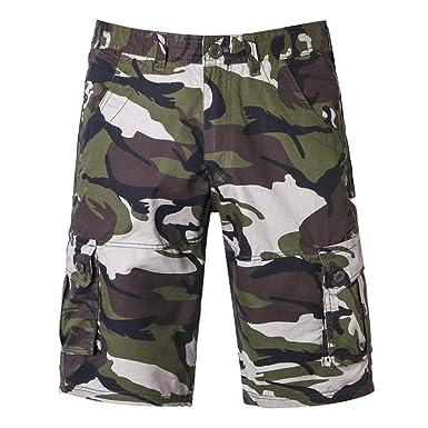 Hombres Cargo Camo Cortos Bermudas Pantalones Pantalones Cortos ...