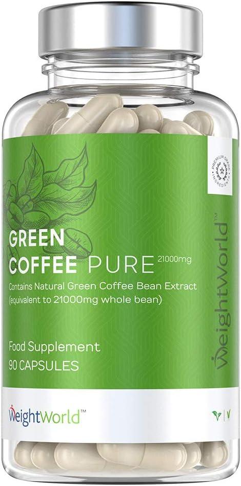 capsule di chicco di caffè verde biologico puroh
