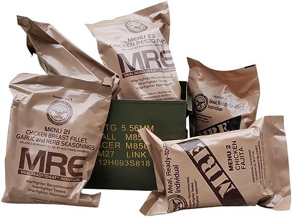 Ammo Can Man Paquete de Comida MRE con 50 latas de munición ...