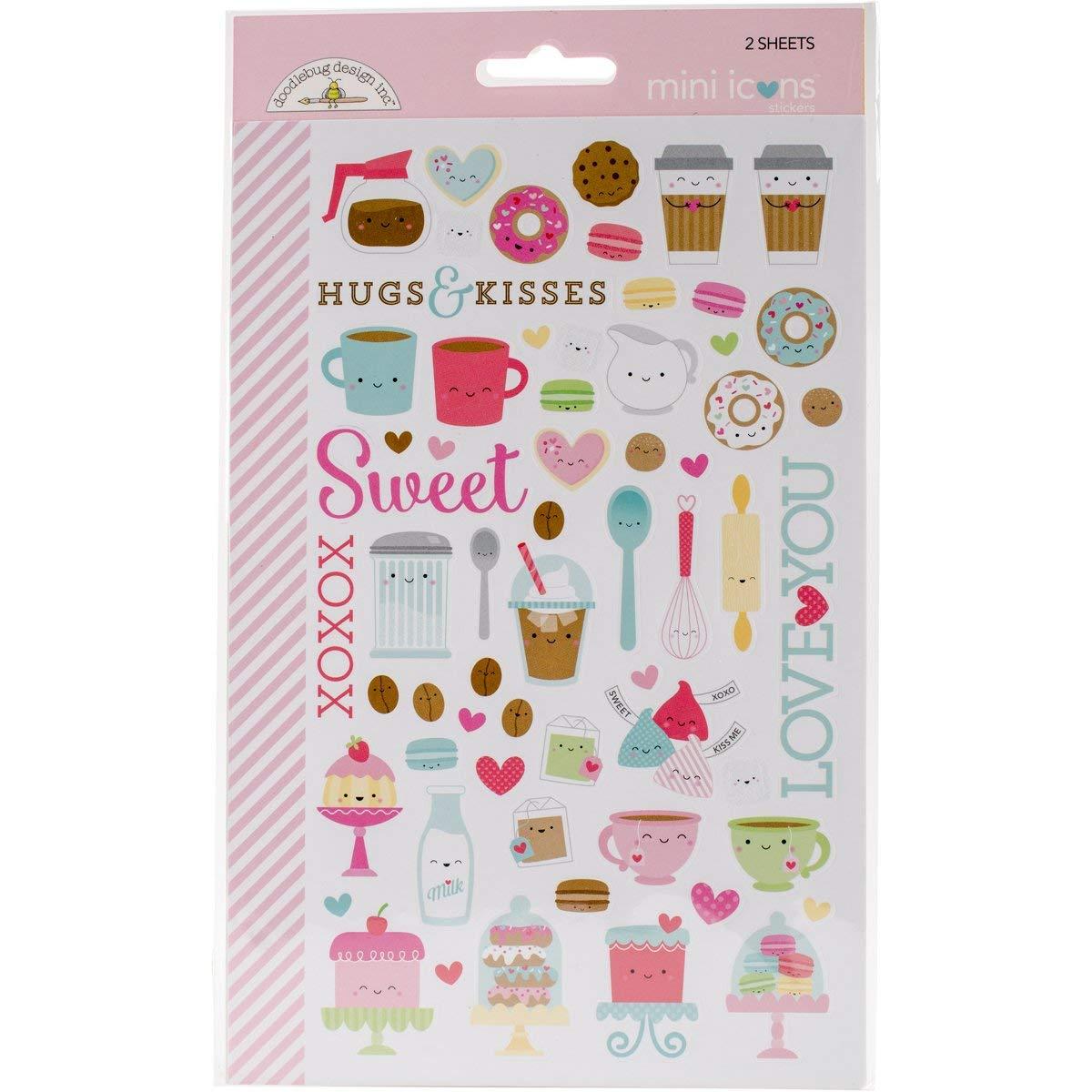 Cream & Sugar Stickers-Mini Icons Doodlebug CAS5705