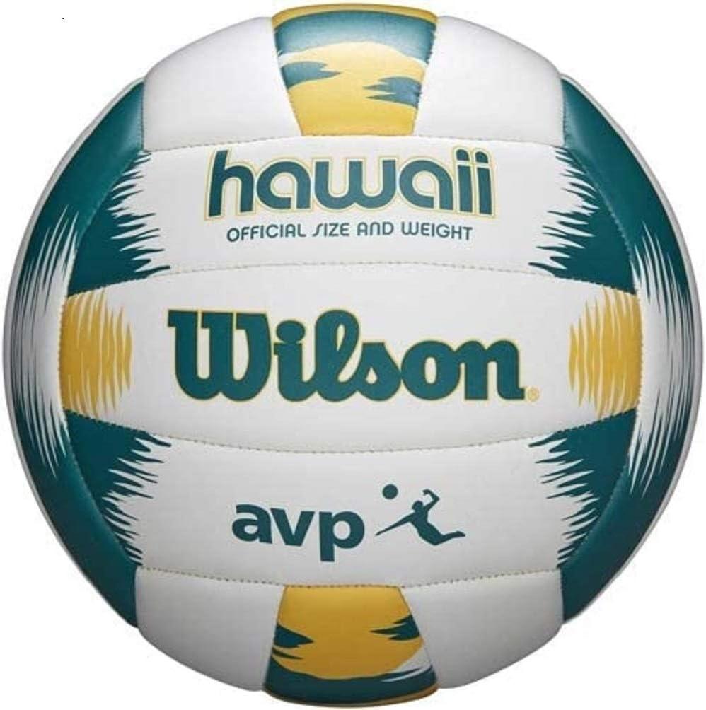 Wilson Unisex S Avp Hawaii Volleyball Green Yellow Official Amazon Co Uk Sports Outdoors