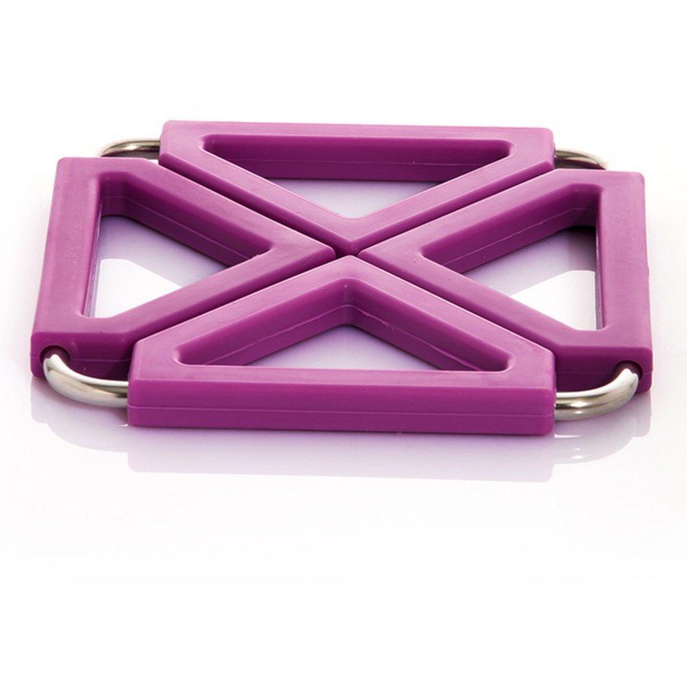 ZHAS hot pad/Kitchen stainless steel silicone heat-resistant mat/Place mat/table mat/mat/pot mat-E 12x12cm(5x5inch)