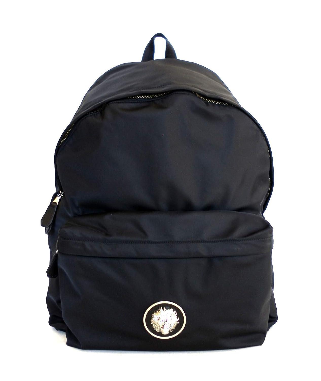 VERSACE VERSUS zaino zaino zaino grande in nylon e pelle F463N nero   Elegante Nello Stile    Germania  d68149