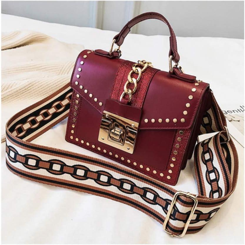 Women Rivet Handbag Luxury Small Durable Crossbody Bags for Women Fashion Leather Messenger Bag Lady Tote