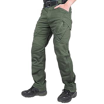 Pantalones Combat de trabajo, de la marca Belloo, para hombre, con bolsillos de cremallera: Amazon.es: Deportes y aire libre