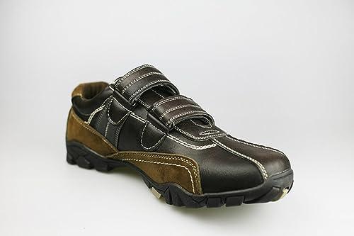 Unbekannt - Zapatillas de Running de Cuero de imitación para Hombre, Color Marrón, Talla 44: Amazon.es: Zapatos y complementos