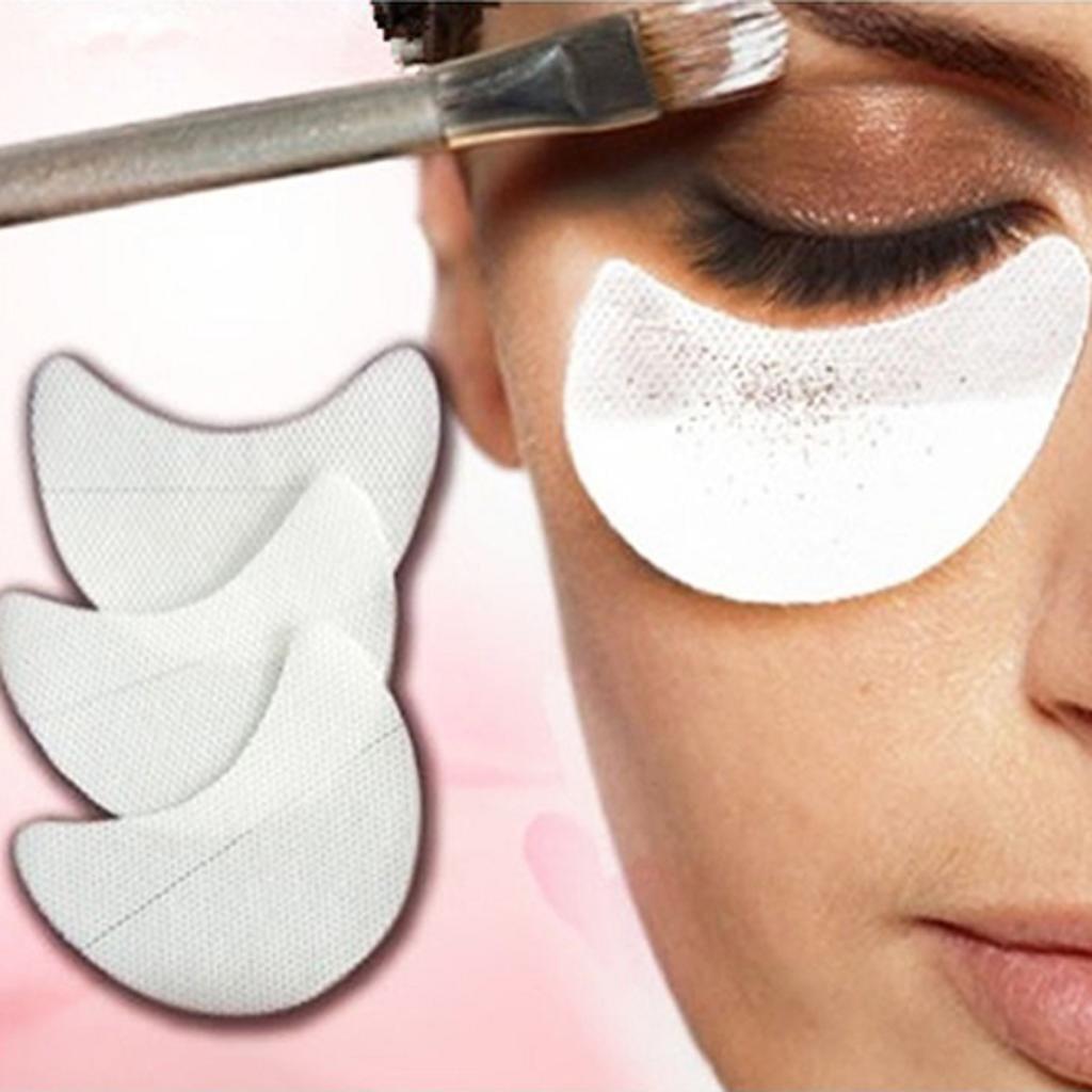 10/20/50/100 Pcs Lidschatten Shields Augen Make-Up Mascara Wachen Pads Wimpern Eyeline Unter Augen Tönungs Pads Kosmetik Schönheit Werkzeug (10 Stck) Aulola