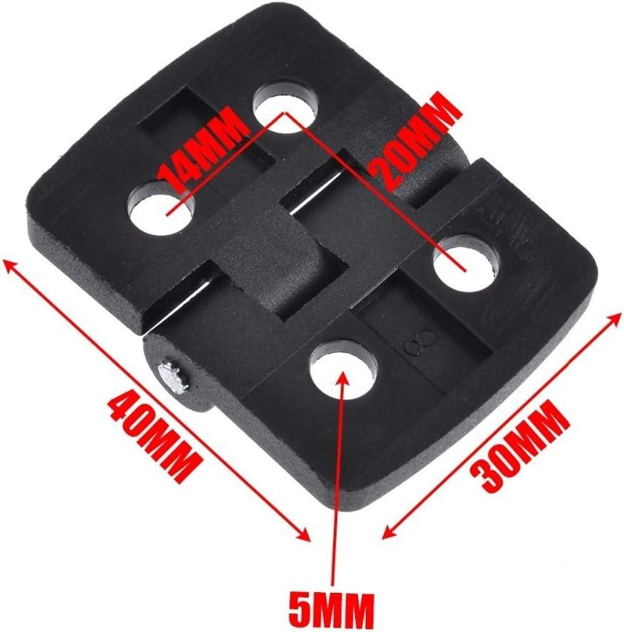 10PCS Noir Mini Plastique Porte Roulement CHARNI/ÈRES Armoire /à tiroirs Bo/îte /à Bijoux charni/ère for Le mat/ériel de Meubles NO LOGO W-NJ-Hinges Taille : 30 * 40mm