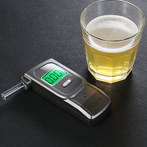 GDbow Portable Breathalyzer Alcohol Tester Recording 32 Testing Results with 5 Mouthpieces for Personal Use -Lead by GDbow (Image #2)