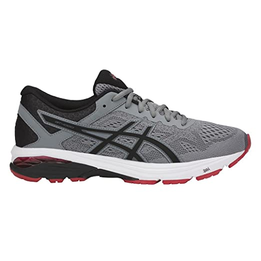 Asics GT-1000 6 Mens Running Shoes - Grey/Red - UK 11