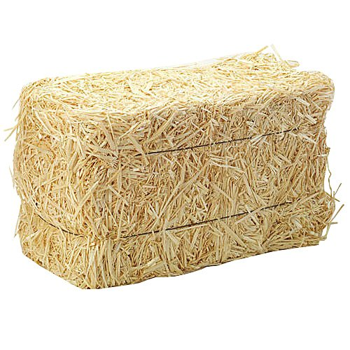 FloraCraft Straw Bales, 5-Inch-by-6-Inch-13- Inch Bale]()